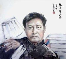 张飞曾先生肖像有西安葛洪彪画