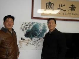 与洛阳书画家协会主席魏驰卓先生