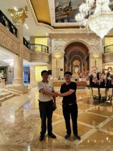 与国家辞赋家协会秘书长张友茂先生在哈尔滨国际大酒店